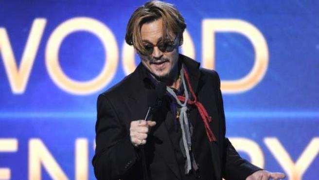 Johnny Depp, en su intervención en los Hollywood Film Awards.