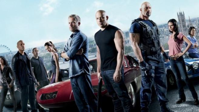 Los protagonistas de la séptima entrega de 'Fast&Furious'.