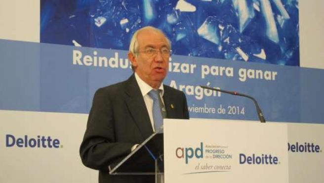 El consejero de Economía y Empleo de Aragón, Francisco Bono