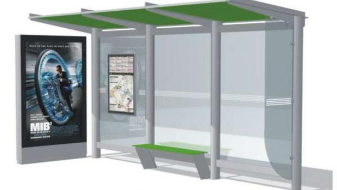 Portotipo de marquesina de parada de autobús en la Intermodal