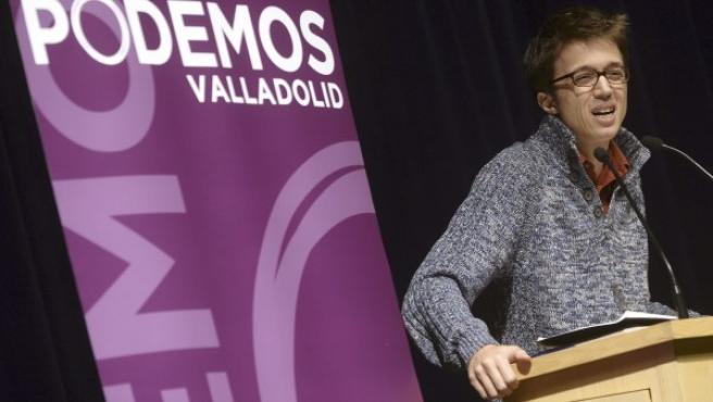El responsable de la secretaría política de Podemos, Íñigo Errejón, en Valladolid.