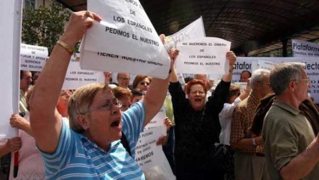 Protesta de afectados de Fórum y Afinsa.