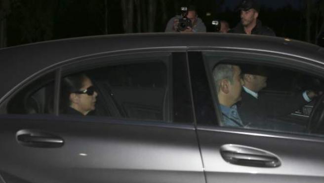 La cantante Isabel Pantoja, a su llegada a la cárcel de Alcalá de Guadaíra.