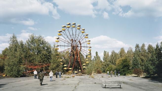 Parque de atracciones abandonado tras el accidente nuclear de Chernobil