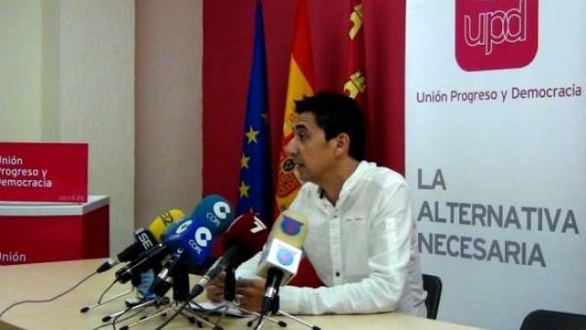 Ruben Juan Serna, portavoz de UPyD en el Ayuntamiento de Murcia