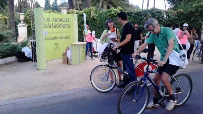 La bici está de moda en Sevilla.
