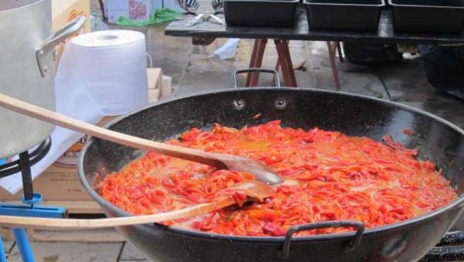 Preparativos en la plaza del Mercado