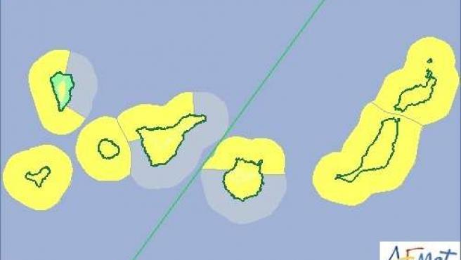 Aviso amarillo por lluvia, viento y fenómenos costeros
