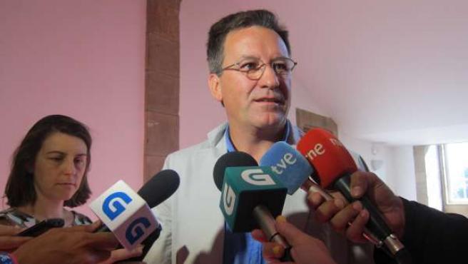 El portavoz nacional del BNG, Xavier Vence, en declaraciones a los medios