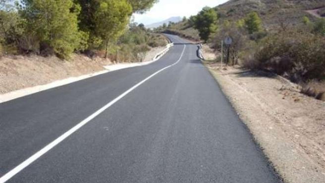 Una de las carreteras reparada