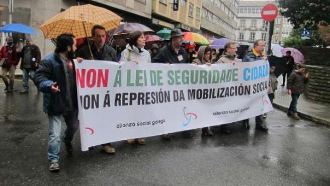 Manifestación en contra de la reforma de la Ley de Seguridad Ciudadana