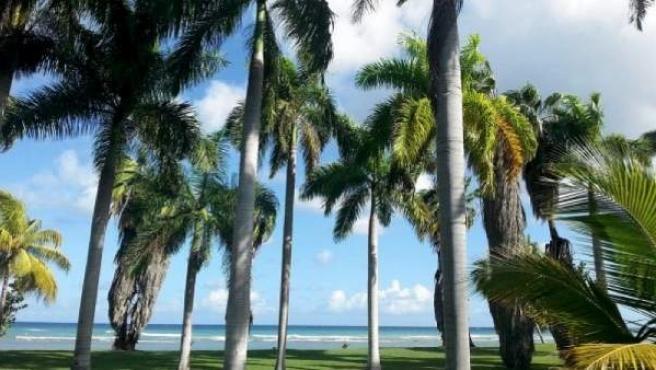 De postal, las Playas de Montego, en Jamaica.