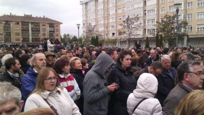 Concentración para apoyar a los trabajadores de Campofrío en Burgos.