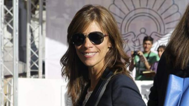 La actriz Maribel Verdú, a su llegada al hotel que aloja a los invitados de la 62 edición del Festival de Cine San Sebastián.