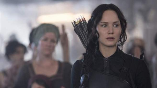 Jennifer Lawrence en una imagen de 'Los juegos del hambre: Sinsajo - Parte 1'