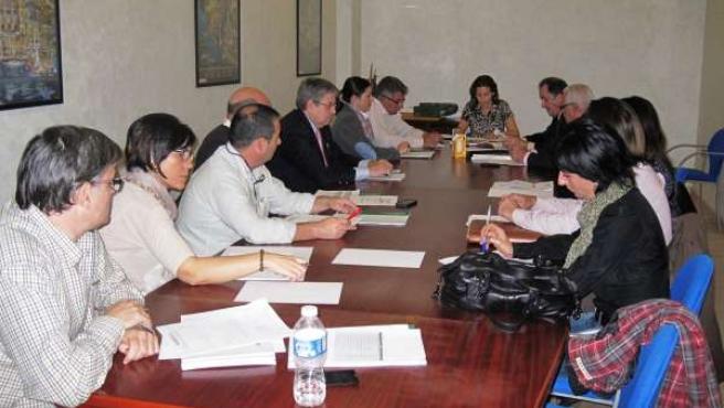 Reunión de la Comisión Provincial de Riesgos Laborales celebrada este jueves