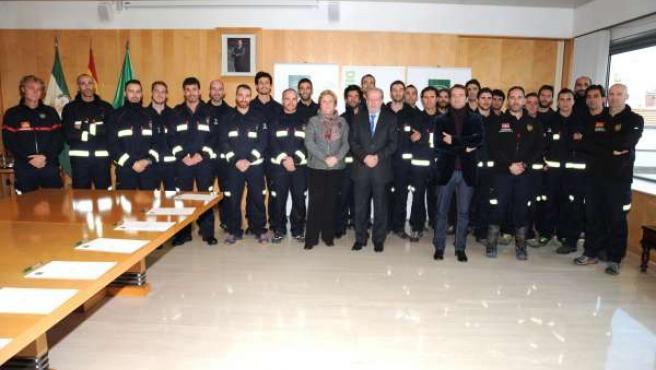 Nuevos bomberos de la Diputación.