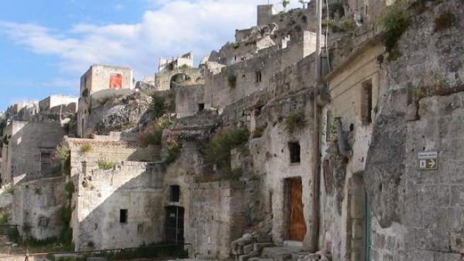 'Sassi' en la histórica ciudad italiana de Matera.