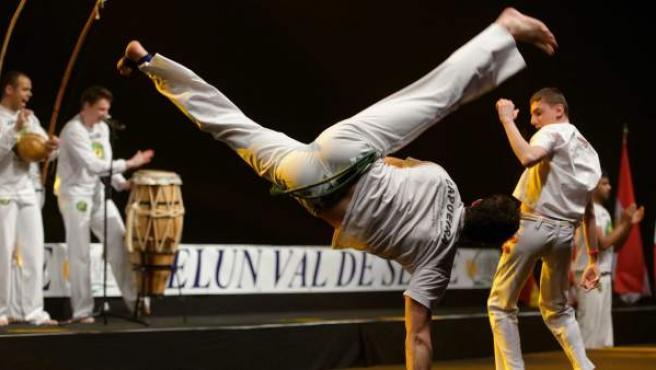 Práctica de capoeira.
