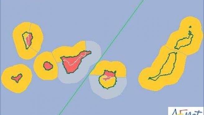 La Aemet decreta el riesgo 'extremo' en Canarias por viento