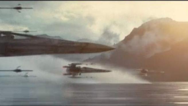 Una de las imágenes que ha revelado el primer tráiler de 'Star Wars VII: The Force Awakens'.