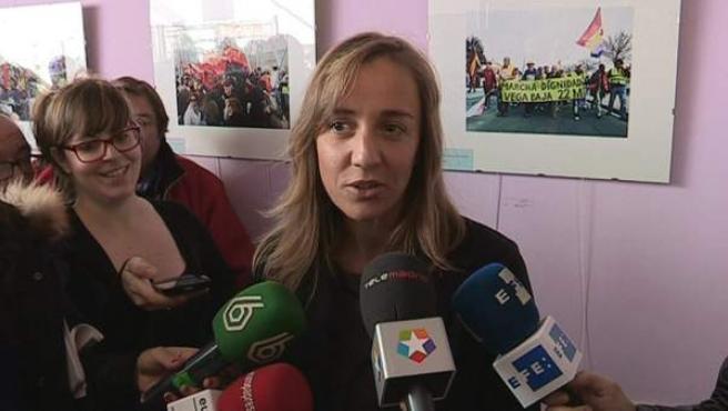 Tania Sánchez, tras ser elegida como candidata de IU a la Comunidad de Madrid.