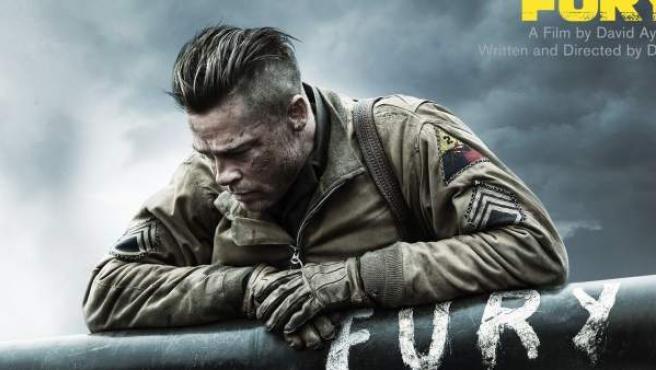 Cartel de 'Fury', protagonizada por Brad Pitt y una de las películas de Sony Pictures pirateadas.