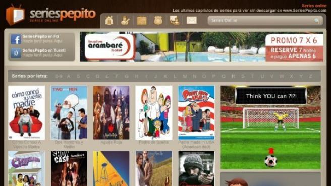 Captura de pantalla de la web seriespepito.com .