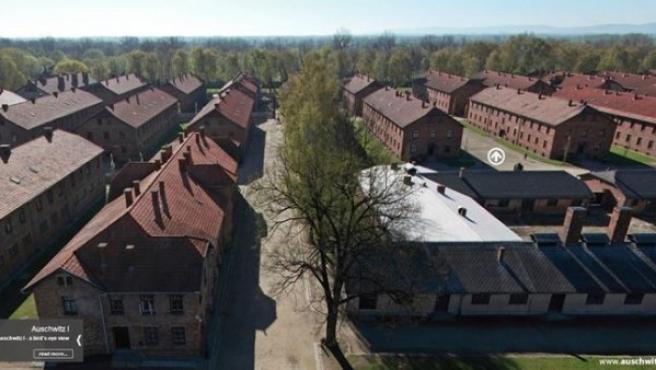 Vista aérea del Museo de Auschwitz.