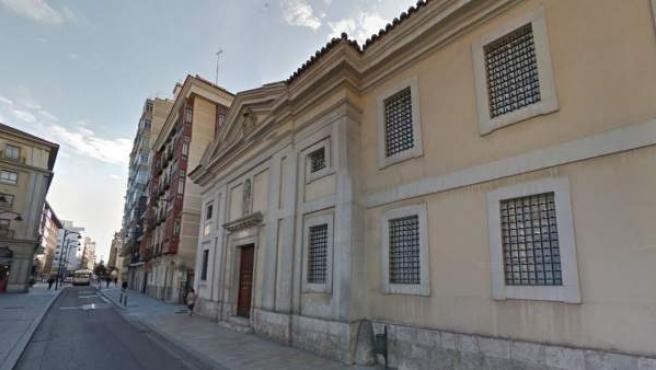 Fachada del convento de San Joaquín y Santa Ana, en Valladolid.