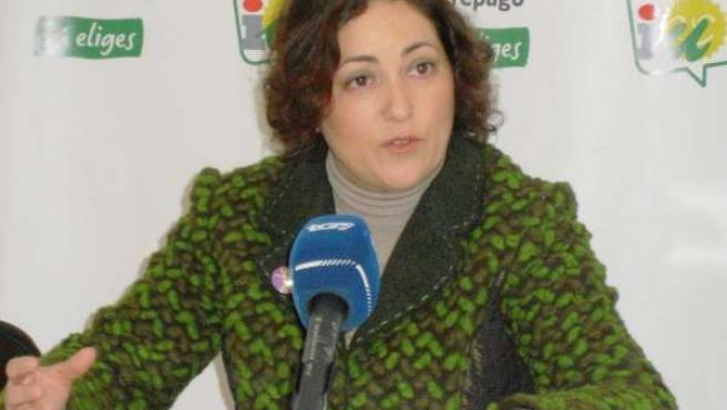 María del Carmen Pérez en rueda de prensa