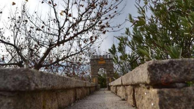 Maqueta del Puente de Alcántara en Montehermoso