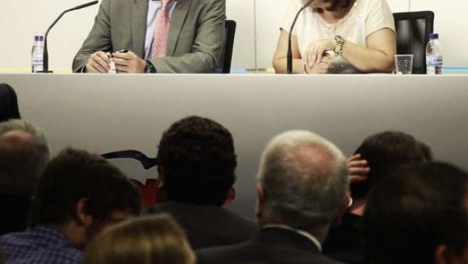 Fabra y Bonig en una imagen de archivo del Comité Regional del PPCV