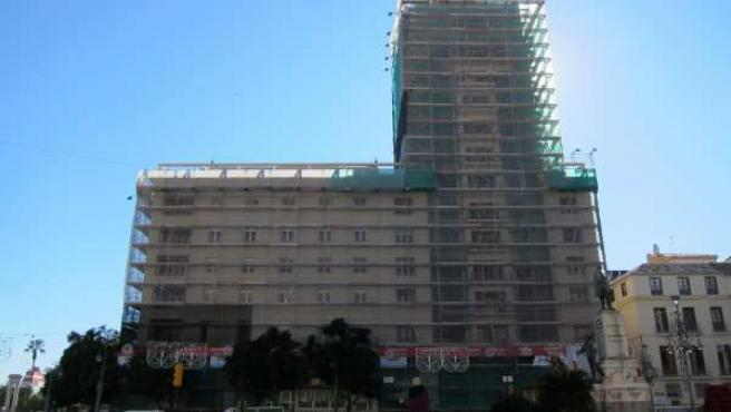 Edificio La Equitativa andamios