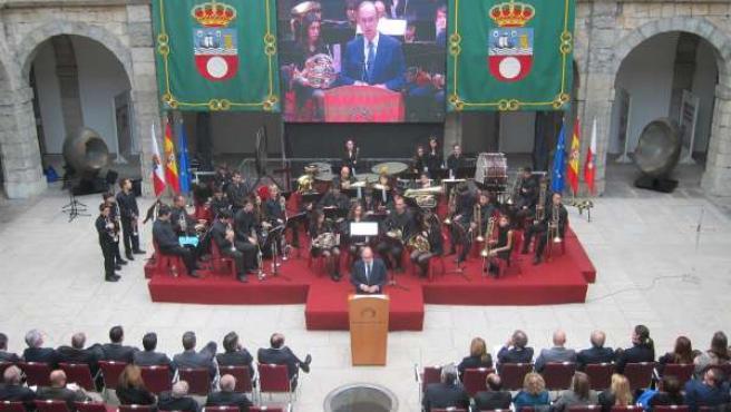 Acto del Día de la Constitución en el Parlamento de Cantabria