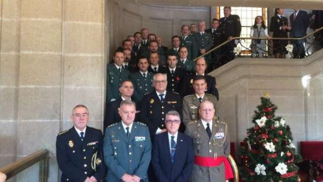 Actos en Pontevedra en el 36 aniversario de la Constitución