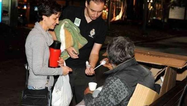 Voluntarios durante el proyecto 'Ola de frío'