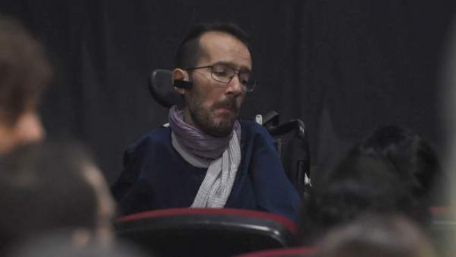 Pablo Echenique, durante la clausura de la Asamblea Ciudadana de Podemos.