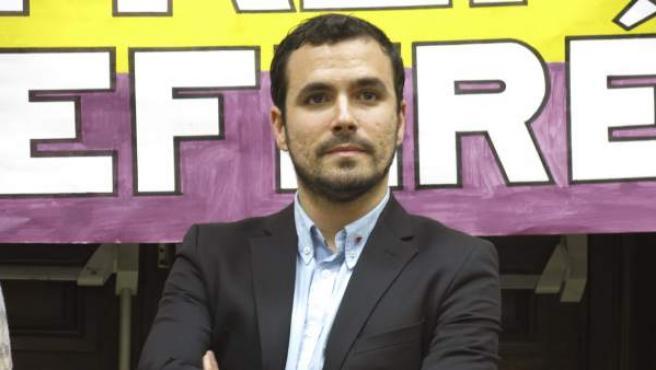 El diputado de Izquierda Unida, Alberto Garzón, durante una entrevista en París.