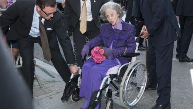 Imagen de la reina Fabiola de Bélgica tomada en julio de 2013.