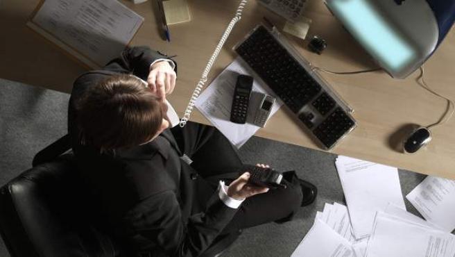 Imagen de una llamada telefónica realizada desde un despacho.