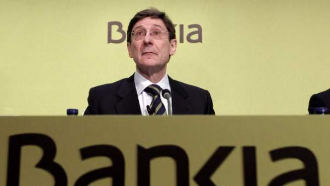 El presidente de Bankia, Jose Ignacio Goirigolzarri, al inicio de la junta general de accionistas.