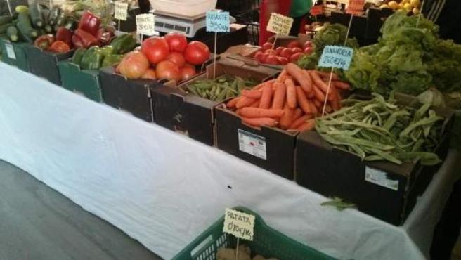 Algunos de los productos ecológicos que podemos encontrar en el Mercado de La Buena Vida.