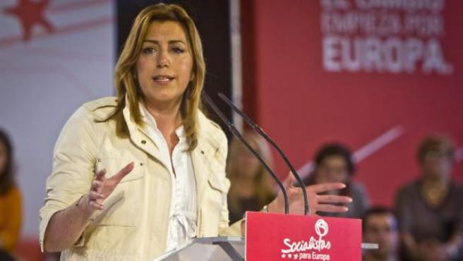 La secretaria general del PSOE de Andalucía y presidente de la Junta, Susana Díaz.