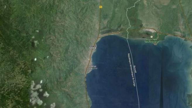 Zona norte del Lago Tanganika, en la ribera de la RD del Congo.