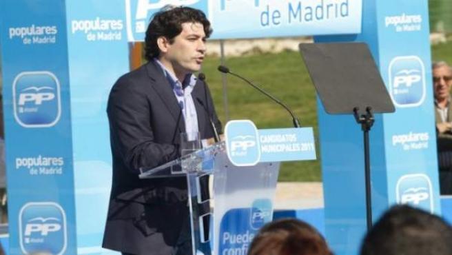 David Pérez, durante la campaña de las elecciones municipales y autonómicas de 2011.