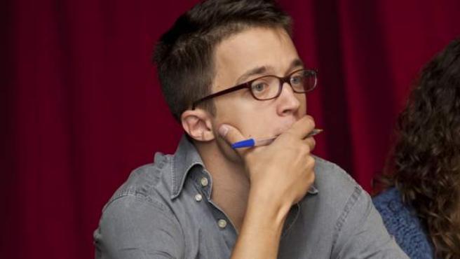 Iñigo Errejon, durante el Debate Internacional Podemos en Londres.