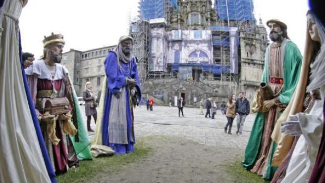 La figura del Niño Jesús ha desaparecido por segunda vez en las últimas tres navidades del belén de Santiago de Compostela.