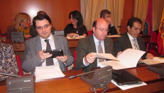Bancada de gobierno local, José María Bellido, Rafael Navas y José Antonio Nieto