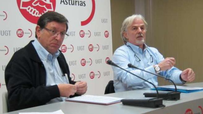 Eduardo Donaire. MCA-UGT yAlberto Villalta, presidente del Comité de Empresa